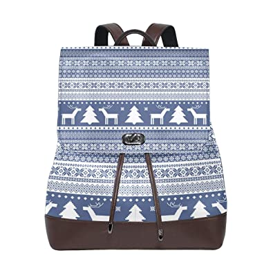 469f0d5d7026a Amazon.com: Knitted Christmasstocking Kits Fashion Backpack Travel ...