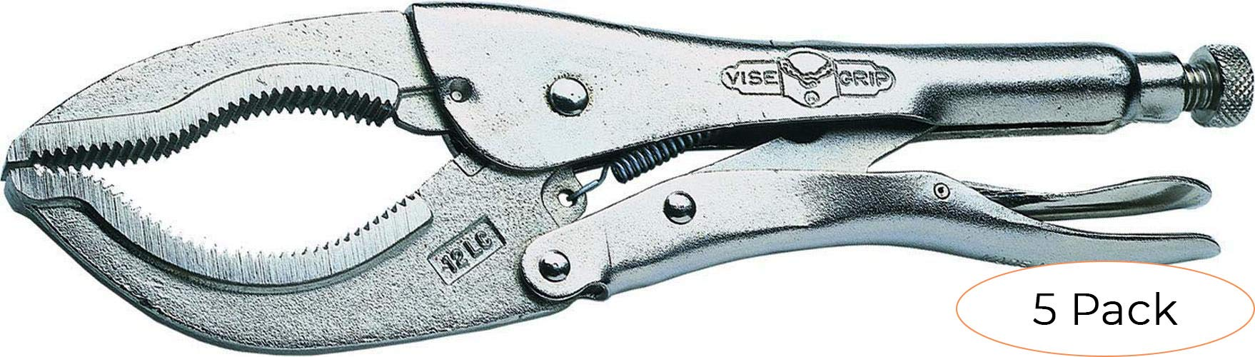 IRWIN VISE-GRIP Locking Pliers Set, Large, 12-Inch (12L3) (Pack 5) by IRWIN