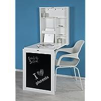Phoenix Schreibtisch, Holz, Weiß, 60x75x15.5