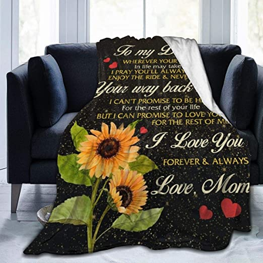 Sunflower Mom To My Daughter Never Forget That I Love You Sofa Fleece Blanket