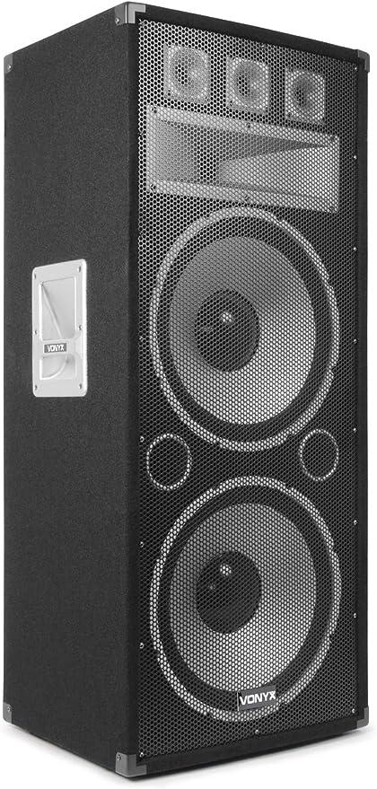 Vonyx Tx215 Pa Passiver Lautsprecher 2 X 15 Zoll Leistung Max 1500 Watt Spl Max 128 Db Robust Und Kompakt Schutzgitter Für Lautsprecher Ideal Für Zuhause Oder Unterwegs Audio Hifi