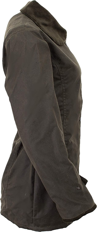 f/ür die Jagd geeignet Gr/ö/ßen 34 bis 44 Walker and Hawkes Damen Country-Jacke gewachst klassischer Stil Olivgr/ün