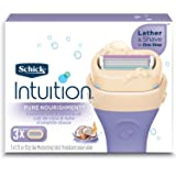 Schick Intuition Pure Nourishment Moisturizing Razor Blade Refills for Women with Coconut Milk and Almond Oil - 3 Count