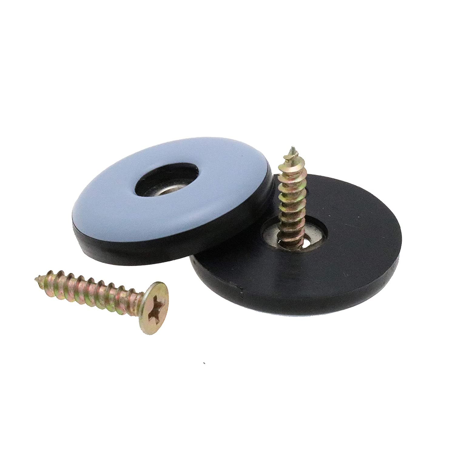 Teflon Base Gliders PTFE Glides For Chairs /& Appliances Screw Gliders Sliders Pack of 16 30mm Screw On Teflon Glides