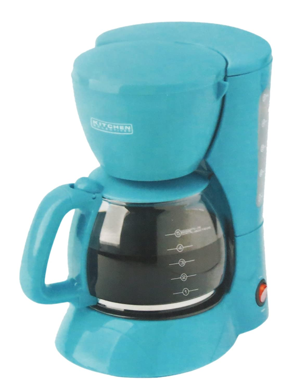 5 Cup Coffee Maker Amazoncom Kitchen Selectives Colors Teal Aqua 5 Cup Coffee Maker