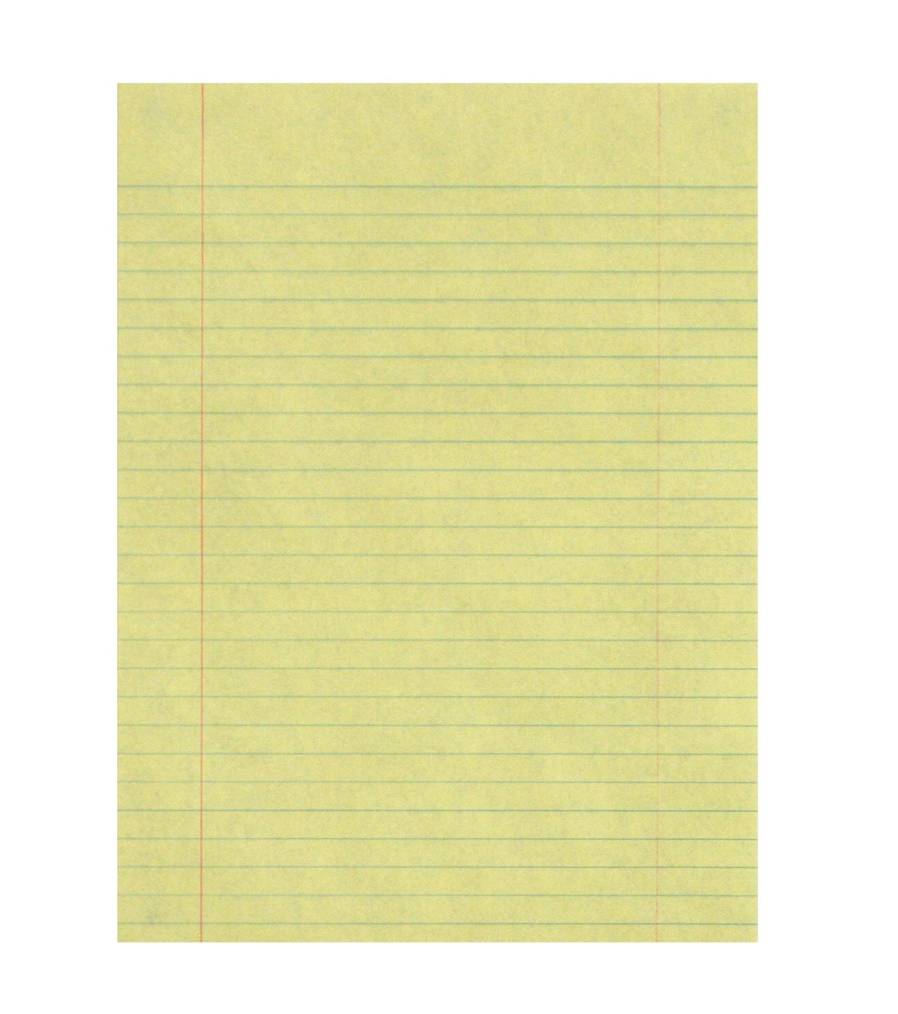 School Smart 16 lb Essay and Composition Paper with Margin - 8 in x 10 1/2 in - Ream of 500 - Yellow