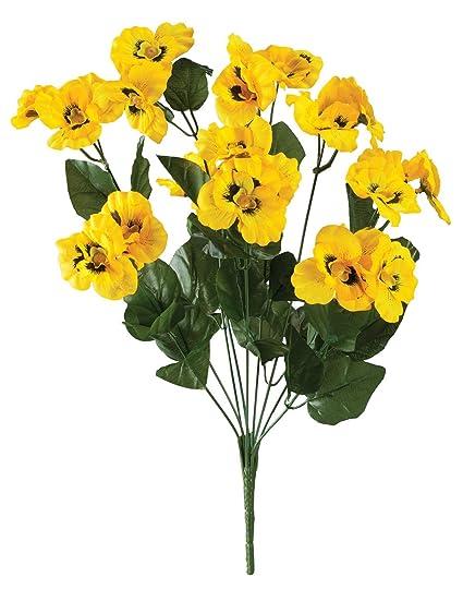 Amazon All Weather Yellow Pansy Bush By Oakridgetm Home Kitchen