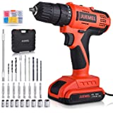 20V MAX Cordless Drill/Driver, JUEMEL 100Pcs Accessories Electric Power Drill Set, 2-Speed with Variable Speed Trigger…