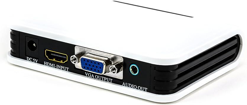 CSL - Conversor de HDMI a VGA (plus audio) | Convertidor de digital a analógico | 1:1 de transmisión | TV/proyector/portátiles etc.: Amazon.es: Electrónica