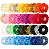 Ausexy 40 Pcs Hair Scrunchies,Premium Velvet Elastic Hair Bands Scrunchy Ponytail Holder for Women or Girls Hair Accessories