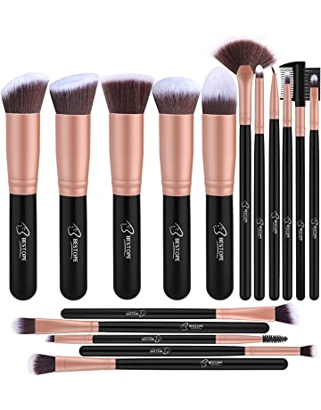919156bad0ceb Set de brochas de maquillaje profesional BESTOPE 16 piezas Pinceles de  maquillaje Set Premium Synthetic Foundation