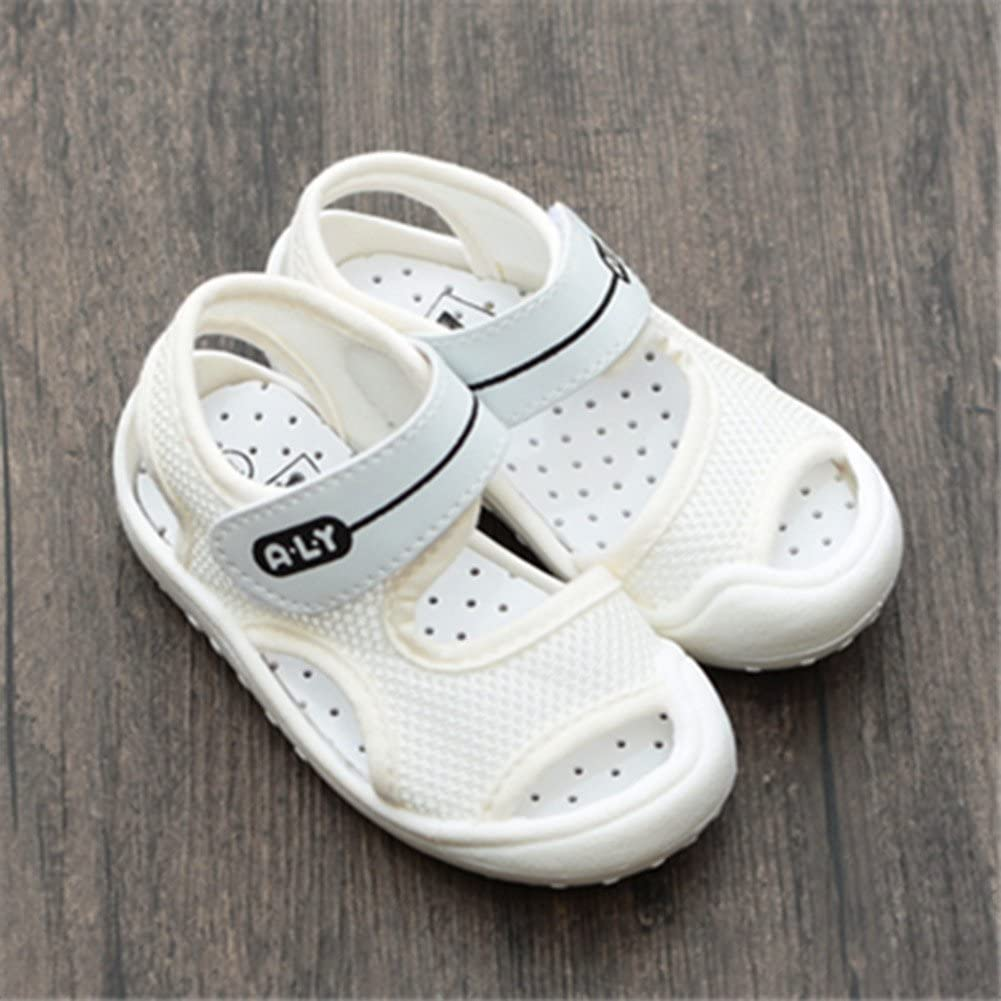 Sakuracan Toddler Boys Girls Baby Summer Sport Sandals Closed Toe Non-Slip Rubber Sole Pool Beach Mesh Sneakers Lightweight Outdoor Water Shoes