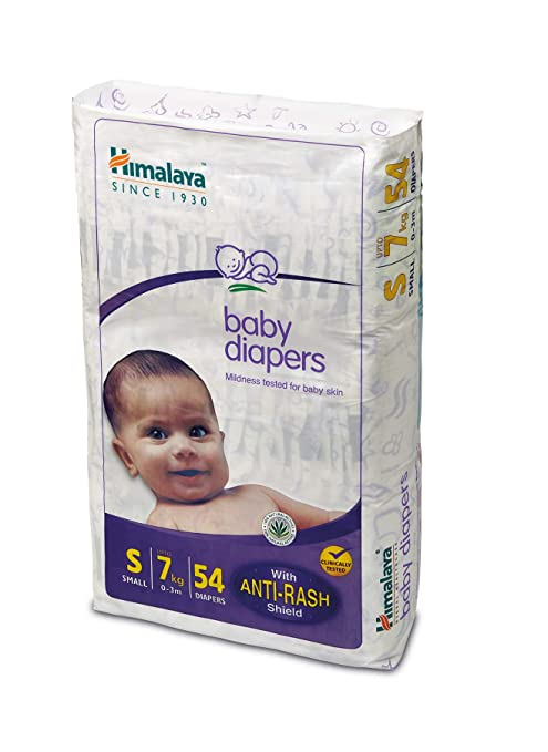 110621bc6e0 Buy Himalaya Baby Small Size Diapers (54 Count) Online at Low Prices in  India - Amazon.in