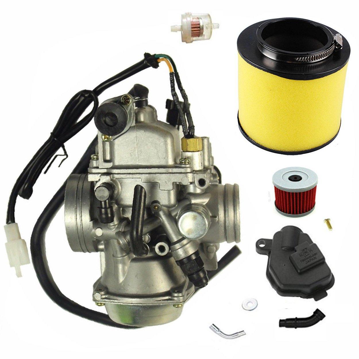 Carburetor w/Air Filter Oil Filter Fits Honda 350 Rancher TRX350TM/TE 2000-2003 New Carb