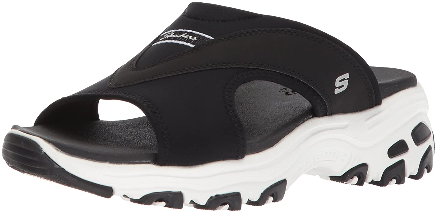 Skechers Women's D'Lites-Retro Vibe Slide Sandal B0721XP3T3 11 B(M) US|Black