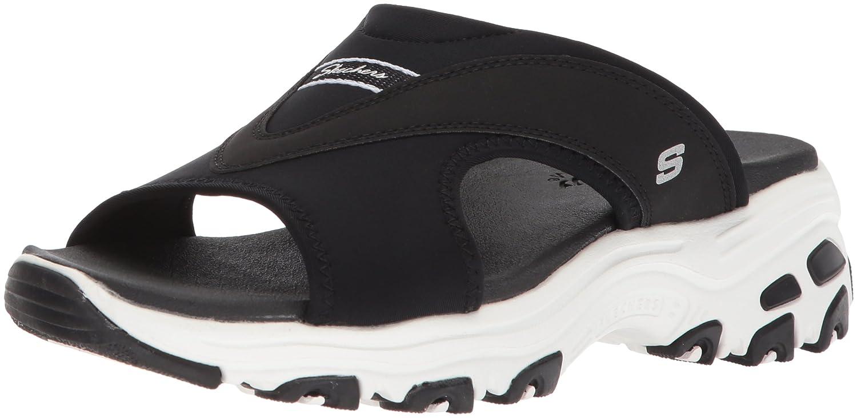 Skechers Women's D'Lites-Retro Vibe Slide Sandal B0721XP3T3 11 B(M) US|Black