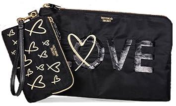a49095f0a41016 Amazon.com: Victoria's Secret Bling Sequin LOVE Clutch Zippered ...