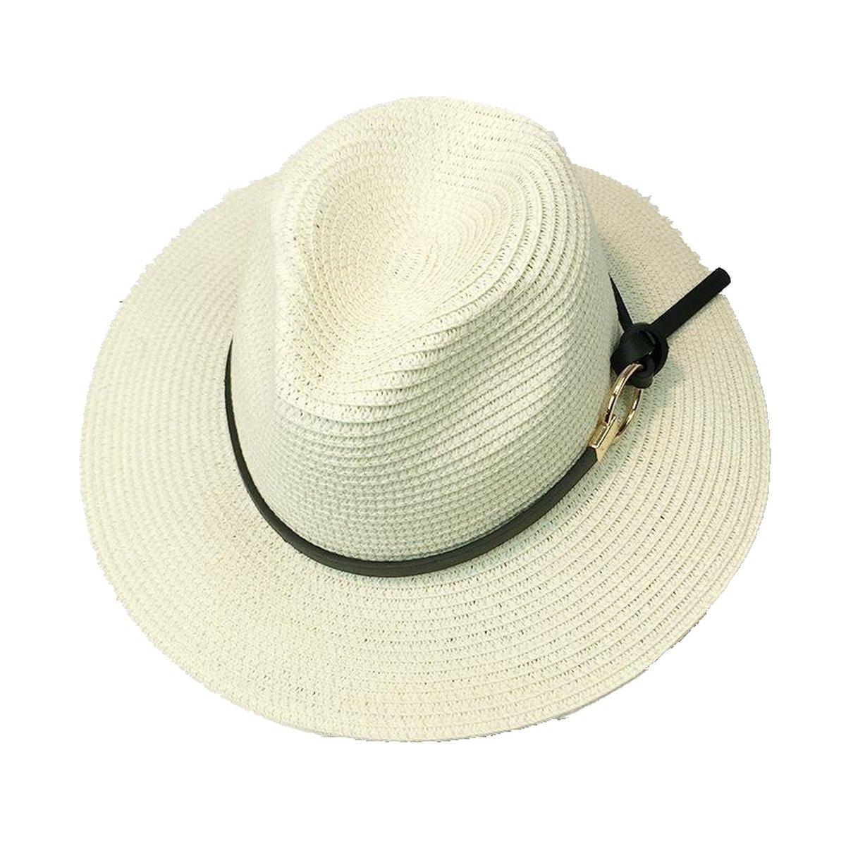 Summer Sun Hat Wide Brimmed Jazz Panama Hat Chapeu Visor Beach Travel Cappello