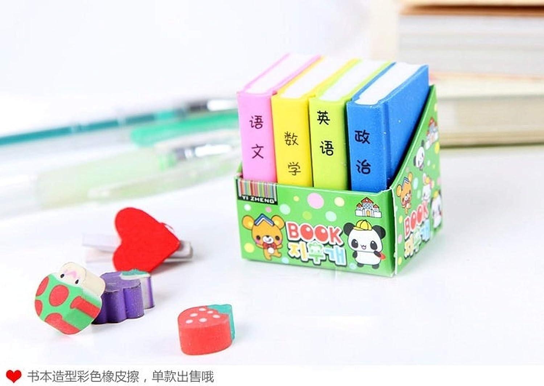 oficina color aleatorio papeler/ía talla /única escuela colorido para ni/ños 1 borrador de goma de borrar para libros de texto