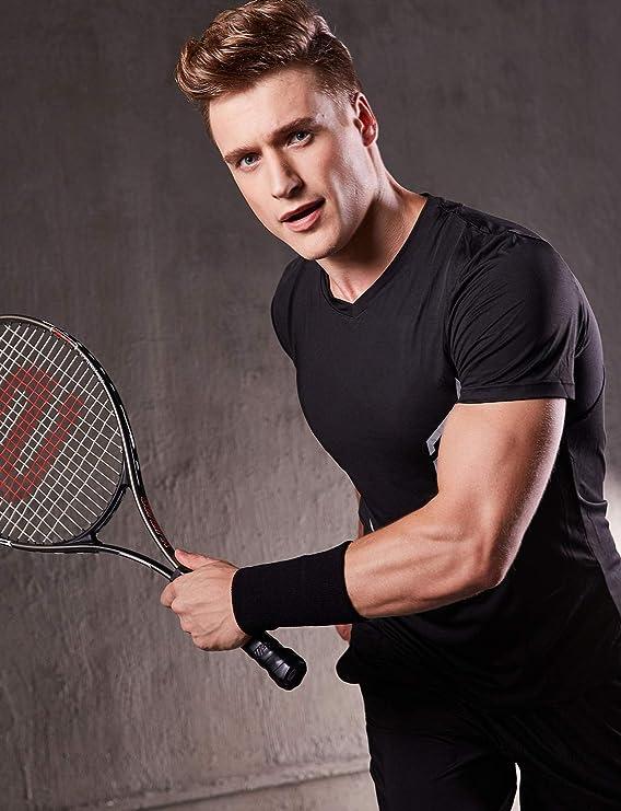 VENI MASEE 6 Pouces Long /épais Bracelet//Bandeau pour Tennis et Autres Sports,Serre-Poignets,1PC//2PCS Pack