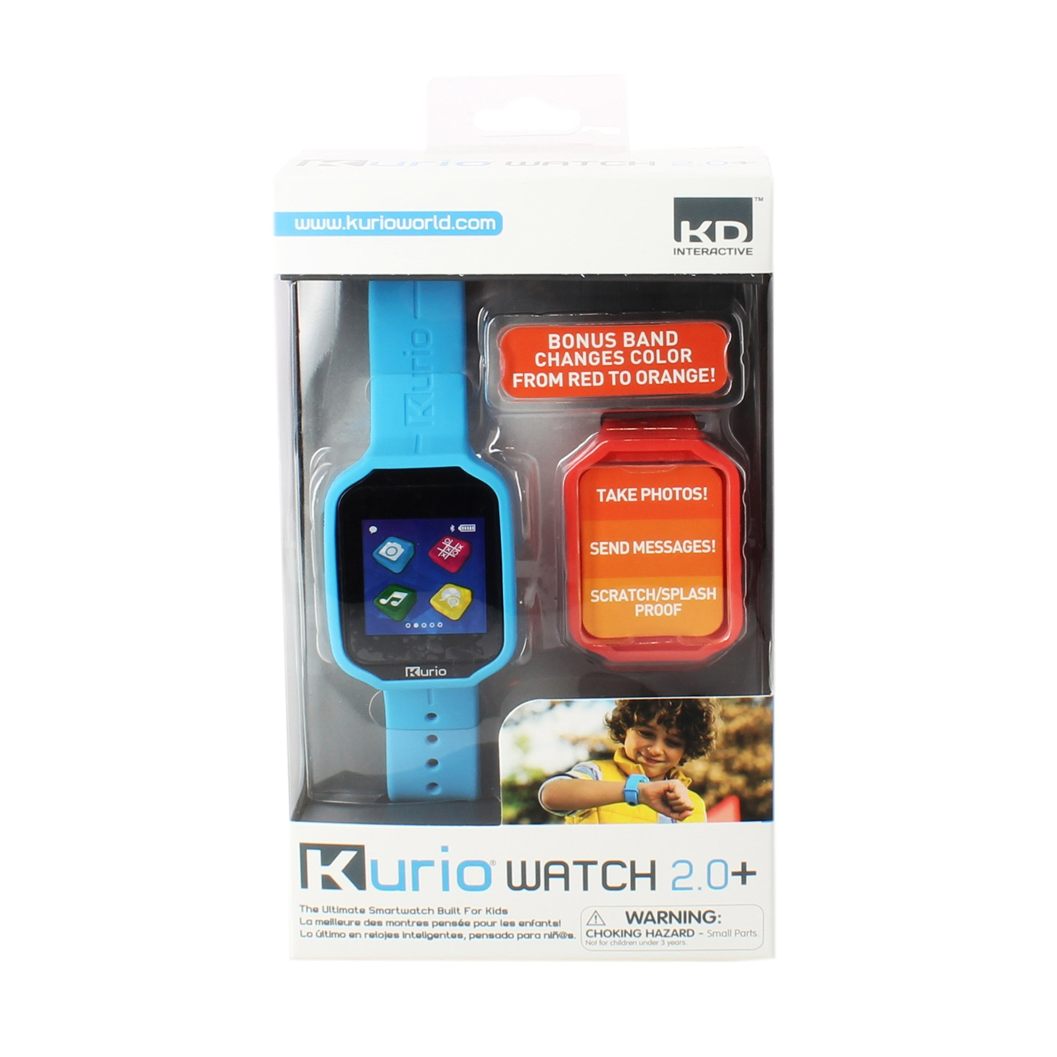 Kurio Watch 2.0+ The Ultimate Smartwatch Built for Kids with 2 Bands, Blue and Color Change by KD Interactive (Image #7)