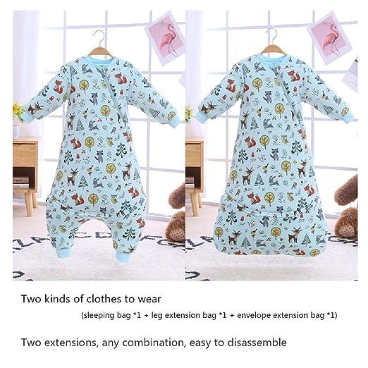 Bunnysun Saco de Dormir para bebés, Cremallera Dividida, algodón ...