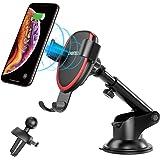 Trådlös Laddare Auto,CHOETECH 7.5W Snabb Trådlös Billaddare Induktiv Laddstation Snabbladdare för iPhone 12/12 Pro Max…