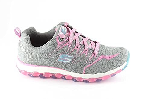 Skechers 80033L Gray Pink Scarpe Bambina Laccio Memory Foam ...