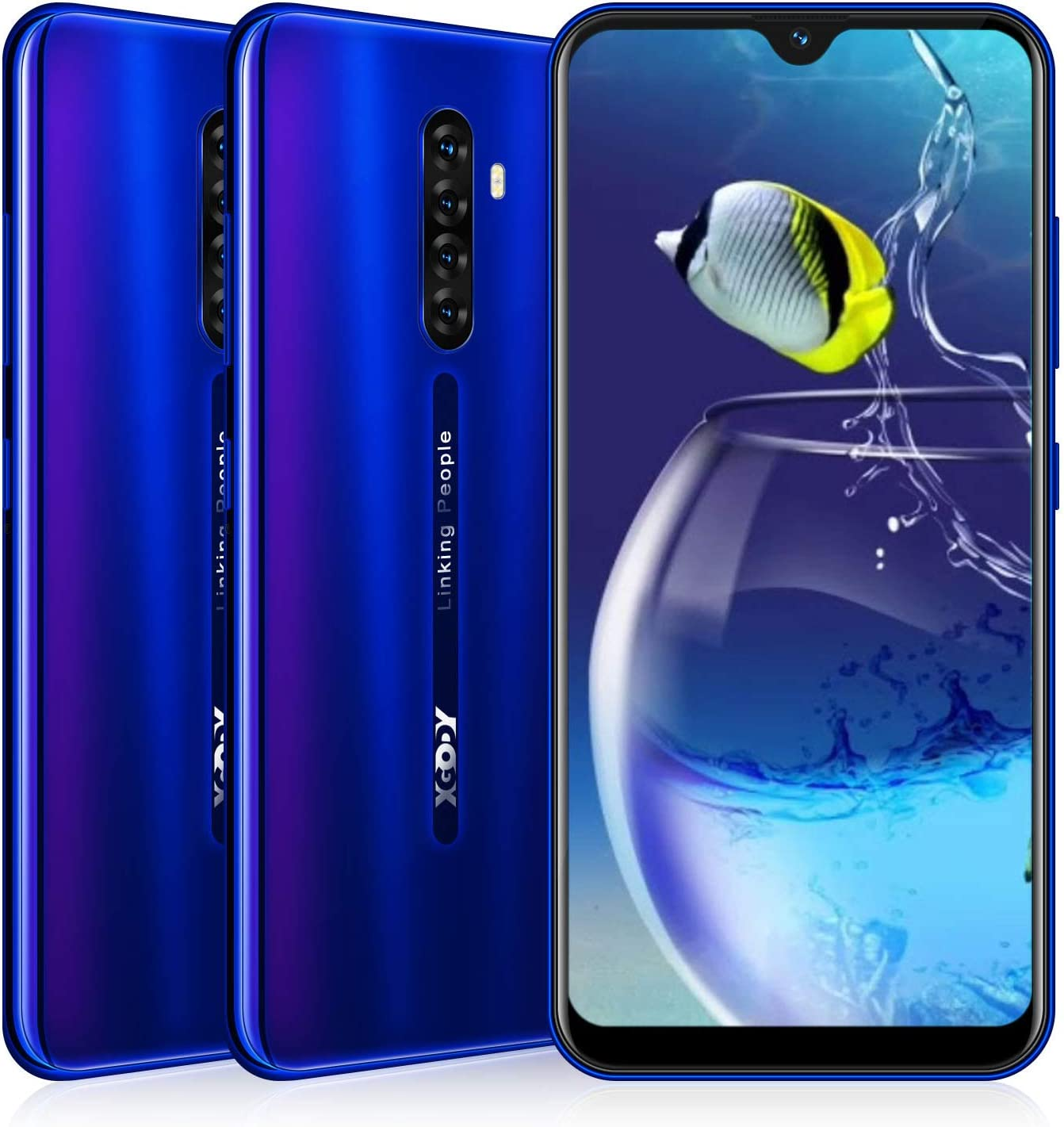 6.3inch LTE 4G Unlocked Phone Note 8 Xgody Unlocked Cell Phone 16GB+2GB Android 9.0 Smartphone Global Version