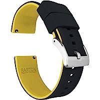 Barton Elite silikon klockarmband - snabbfrigöring - välj färg - 18mm, 19mm, 20mm, 21mm, 22mm, 23mm och 24mm…