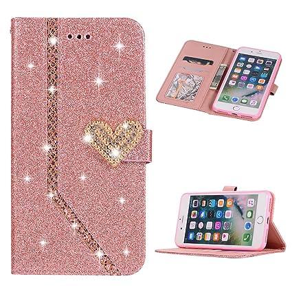 Amazon.com: Badalink iPhone 8 Plus Funda Cartera, iPhone 7 ...