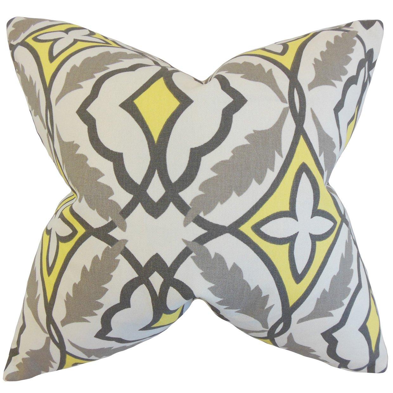 The枕コレクションp20-pp-eden-lemon-c100 Beck幾何枕、グレー、20