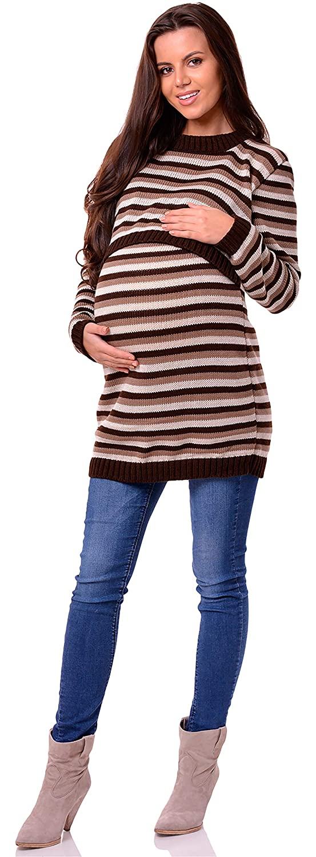 Be Mammy Pull Maternit/é V/êtements Grossesse Femme BESE490