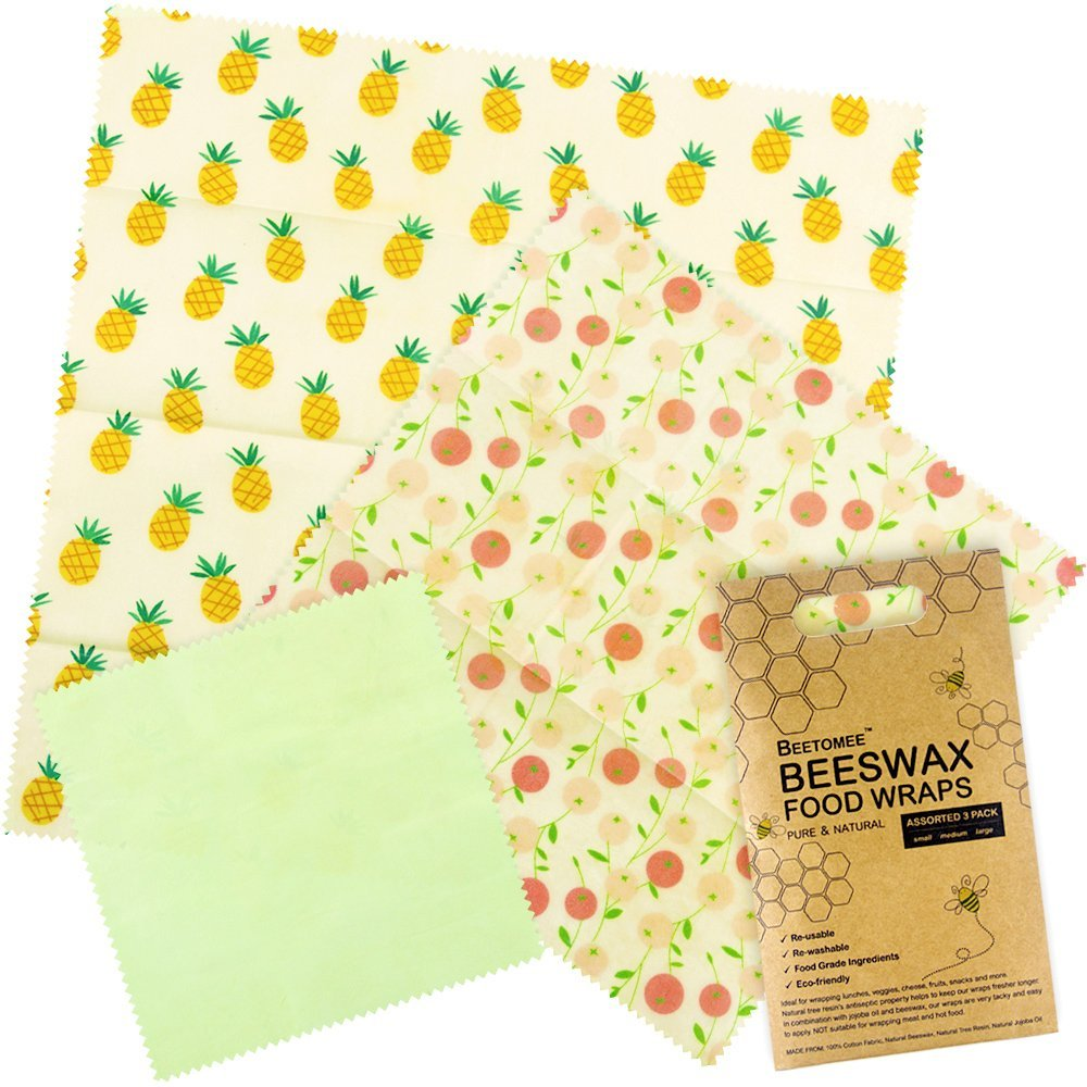 Amazon.com: Beeswax Wrap, Reusable Breathable Food Storage Wraps, Eco  Friendly Natural Ingredients, Anti Bacterial, Reduce Plastic Wastes, Cling  Wrapper ...