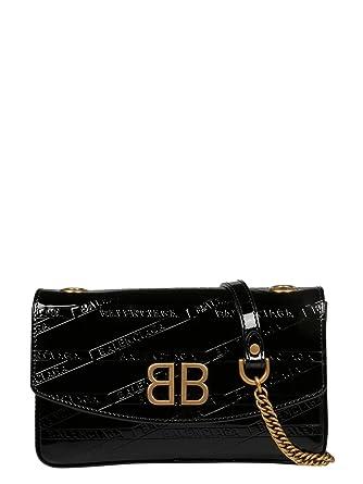 df38e48f1c Balenciaga Femme 5266820Zx141000 Noir Cuir Sac Porté Épaule: Amazon.fr:  Vêtements et accessoires