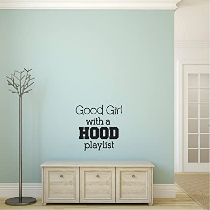 Amazon.com: Vinyl Wall Art Decal - Good Girl with A Hood ...