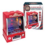 Global Gizmos 50130 Battery Operated Mini Arcade Coin Pusher Toy with Lights and Sound