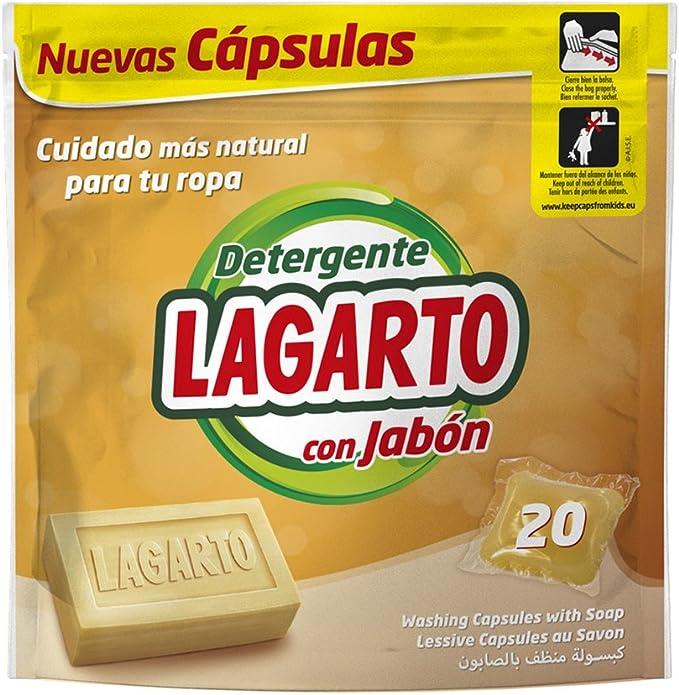 Lagarto Bolsa Detergente en Capsulas - Al Jabón - 20 Lavados ...