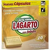 Lagarto Bolsa Detergente en Capsulas - Al Jabón - Pack de 3 x 20 Lavados