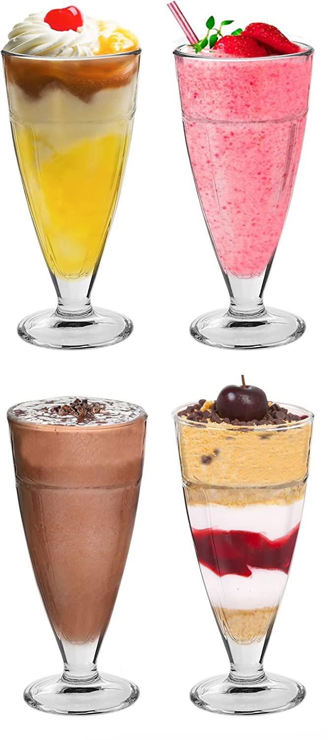 Argon Tableware Knickerbocker Glory Dessert Sundae Glasses - 350ml (12.3oz) Gift Box Set Of 4