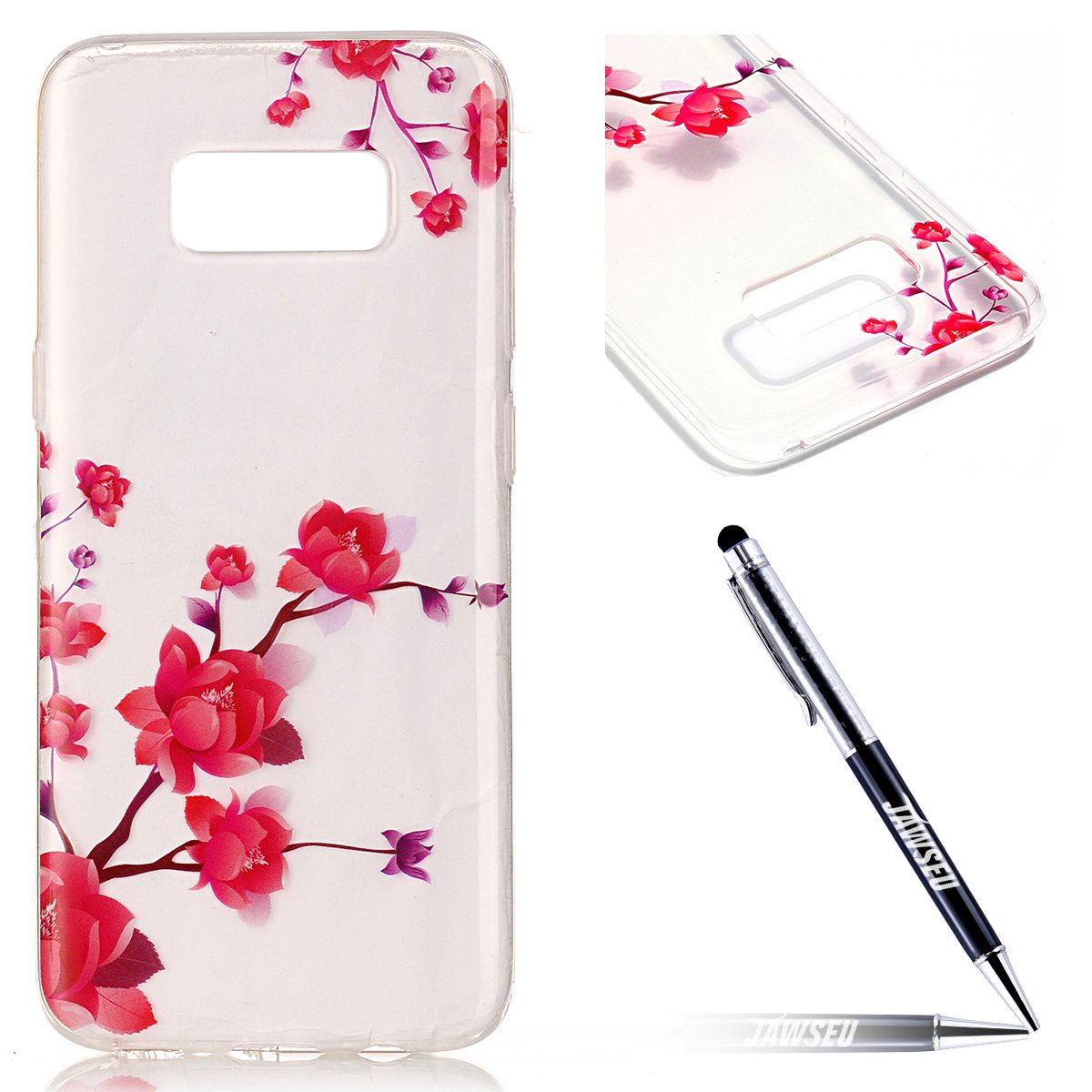 Custodia Cover Samsung Galaxy S8 Plus Transparente Samsung Galaxy S8 Plus Case, JAWSEU Creativo Disegno Antiurto Corpeture Cristallo Chiaro Case per Samsung Galaxy S8 Plus Super Sottile Case Custodia Cover per Samsung Galaxy S8 Plus Protettiva Shock-Absorp