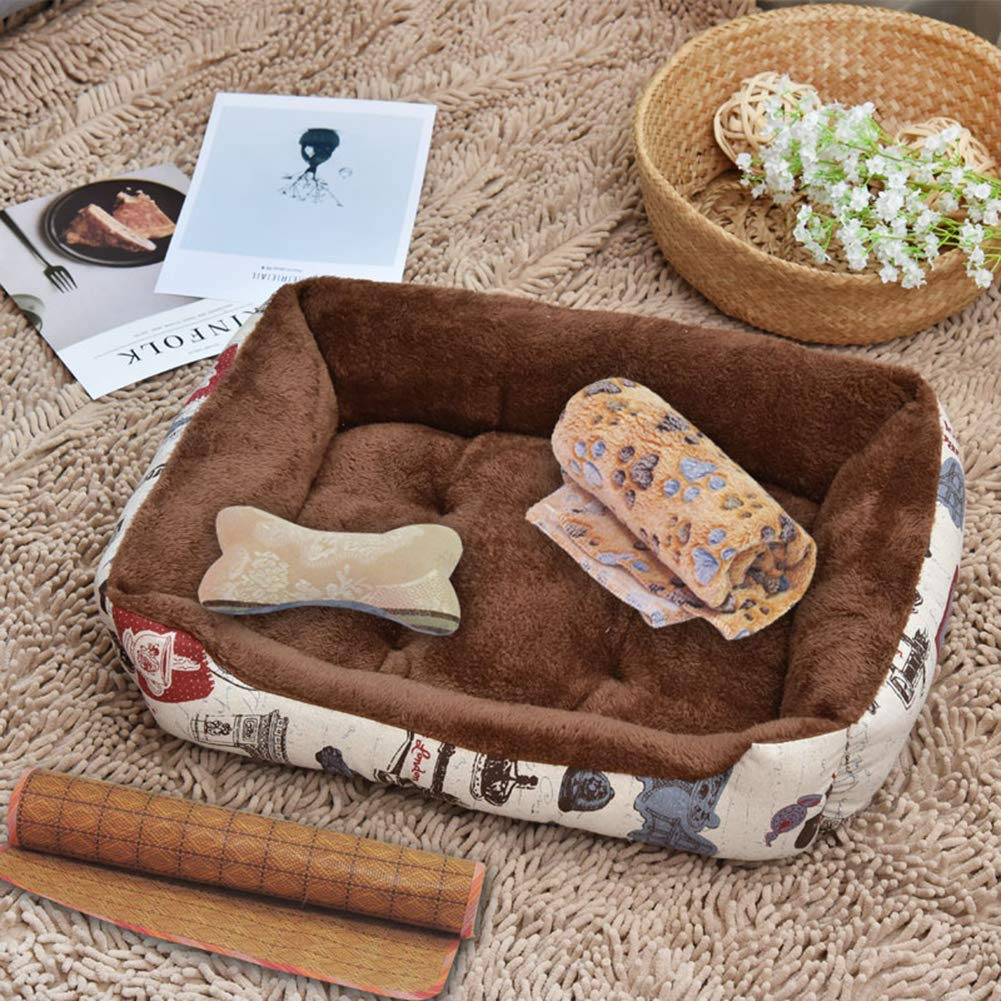 B 70cmPet Bed,Four Seasons Universal Dogs & Cats Ultra Comfort Washable Dog Bed Suitable for Small and Medium Dog 4 Flower Patterns are Available