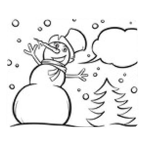 Alfombrilla De Ratón Muñeco De Nieve Para Colorear Libro De Navidad