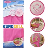 Eurosell Premium 3 Stück Premium Microfaser Mikrofaser Reinigungstücher fusselfrei Tuch Tücher Reinigung Ceranfeld Küche Spültücher waschbar wiederverwendbar Set pink rosa