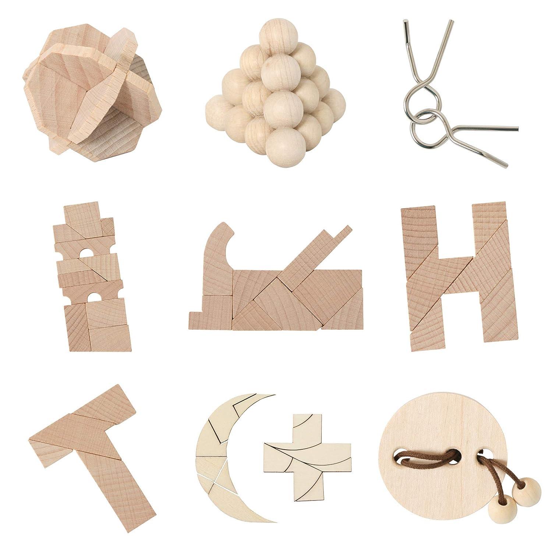 Bartl 500278 9 Mini-Spiele aus Holz f/ür Erwachsene und Kinder
