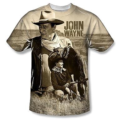 454afff6 Amazon.com: John Wayne - Men's T-shirt Stoic Cowboy design: Clothing
