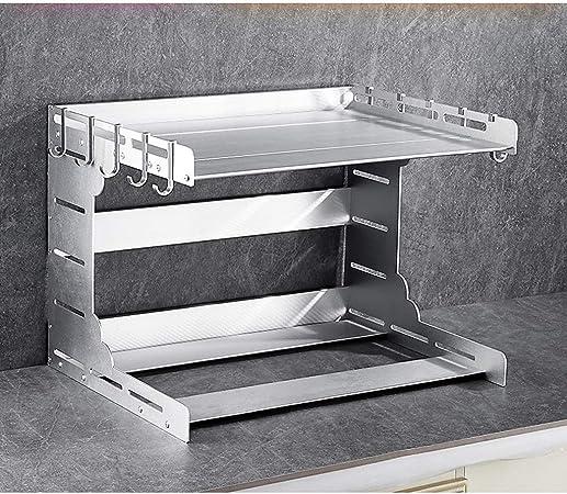 Compra ZYDSD Estante de Cocina Estante Base Doble Estante de Almacenamiento de Cocina 55 * 42.5 * 40.5cm Organizador de estantes de Cocina, Despensa, Baño (Color : Silver) en Amazon.es