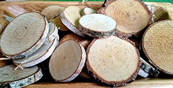 100 G Birkenscheiben Rund 3 9 Cm Holzscheiben Birkenstamm Birken