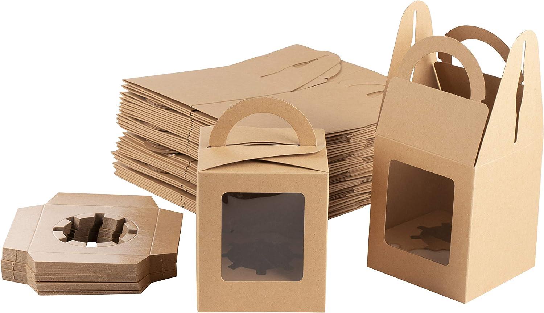 custom labels Set 200-4x4x2 Donut Favor Boxes Single kraft Donut Box