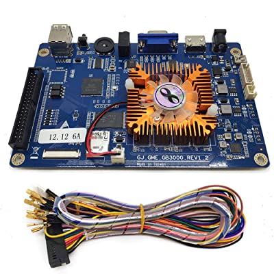 Tongmisi 2323 in 1 Game Console PCB 3D Arcade Machine Board Support VGA HDMI for HD Video Games Console (3D Game PCB with Cables): Toys & Games